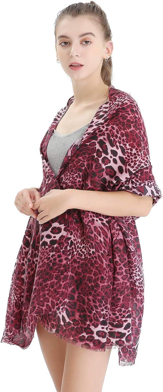 Women Leopard Print Scarf...