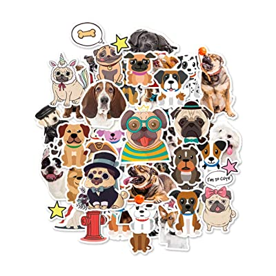 HaokHome S-006 176pcs Funny Dog Stickers for Teens Kids Cars Stickers for Water Bottles Laptop Scrapbooking Firefighters Hydro Flask Stickers Vsco Stickers Wall Stickers Room Decor: Home Improvement