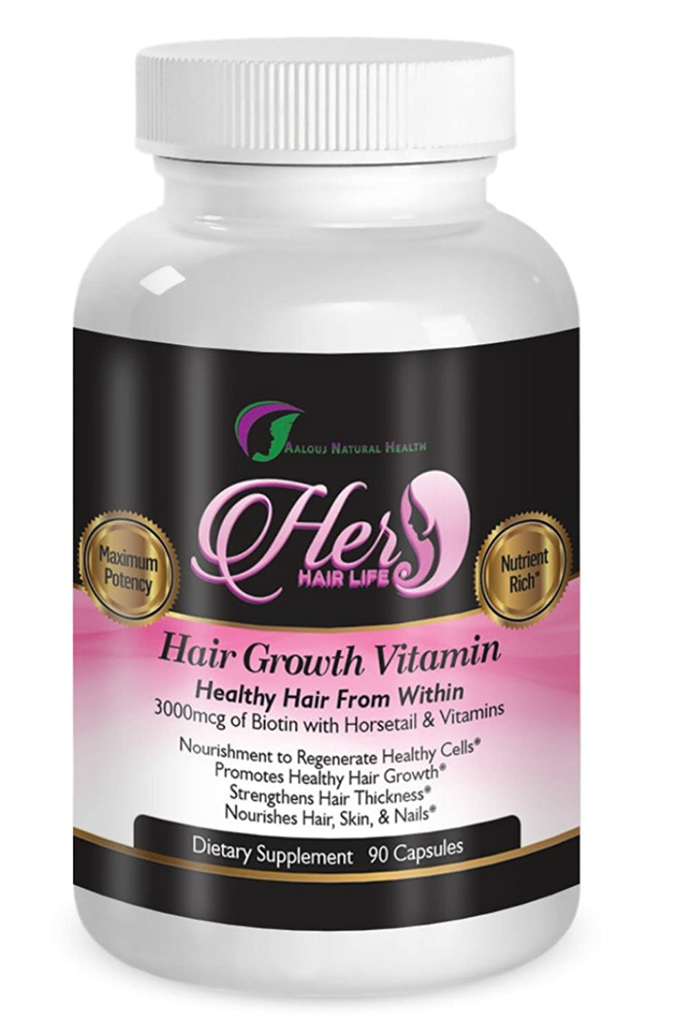 Amazon.com : Vitamins for Hair Growth - Healthy Hair Skin and Nails ...