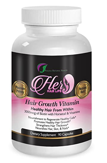 Vitamins For Hair Growth Healthy Hair Skin And Nails 90 Pills With Horsetail And Biotin