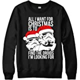 Bah Humbug Christmas Jumper Star Wars Xmas Festive Gift Adult /& Kids Jumper Top