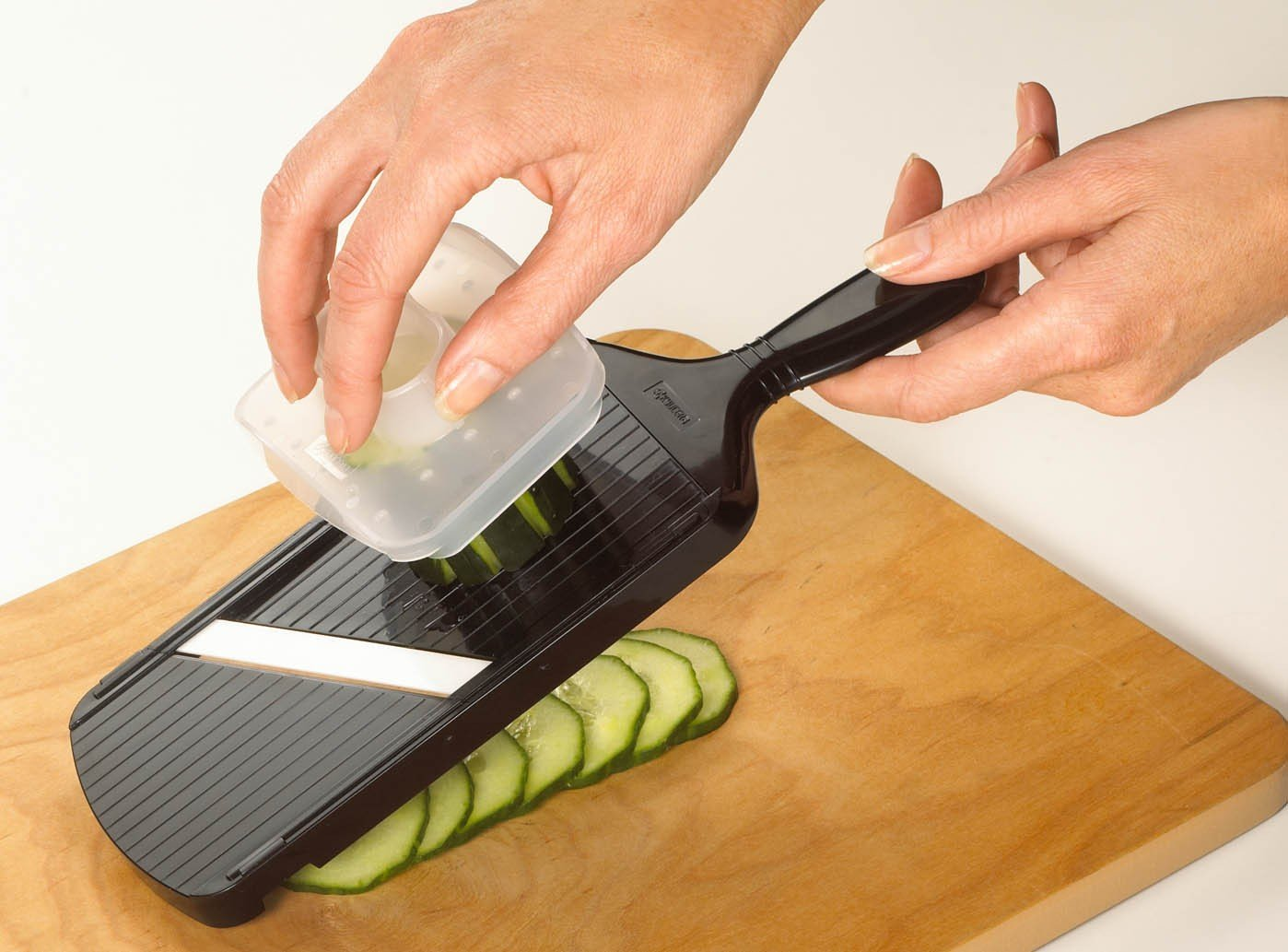 beautiful Mandolin Kitchen Appliance #1: Amazon.com: Kyocera Advanced Ceramic Adjustable Mandoline Vegetable Slicer  w/ Handguard-Black: Kyocera Knife: Kitchen u0026 Dining