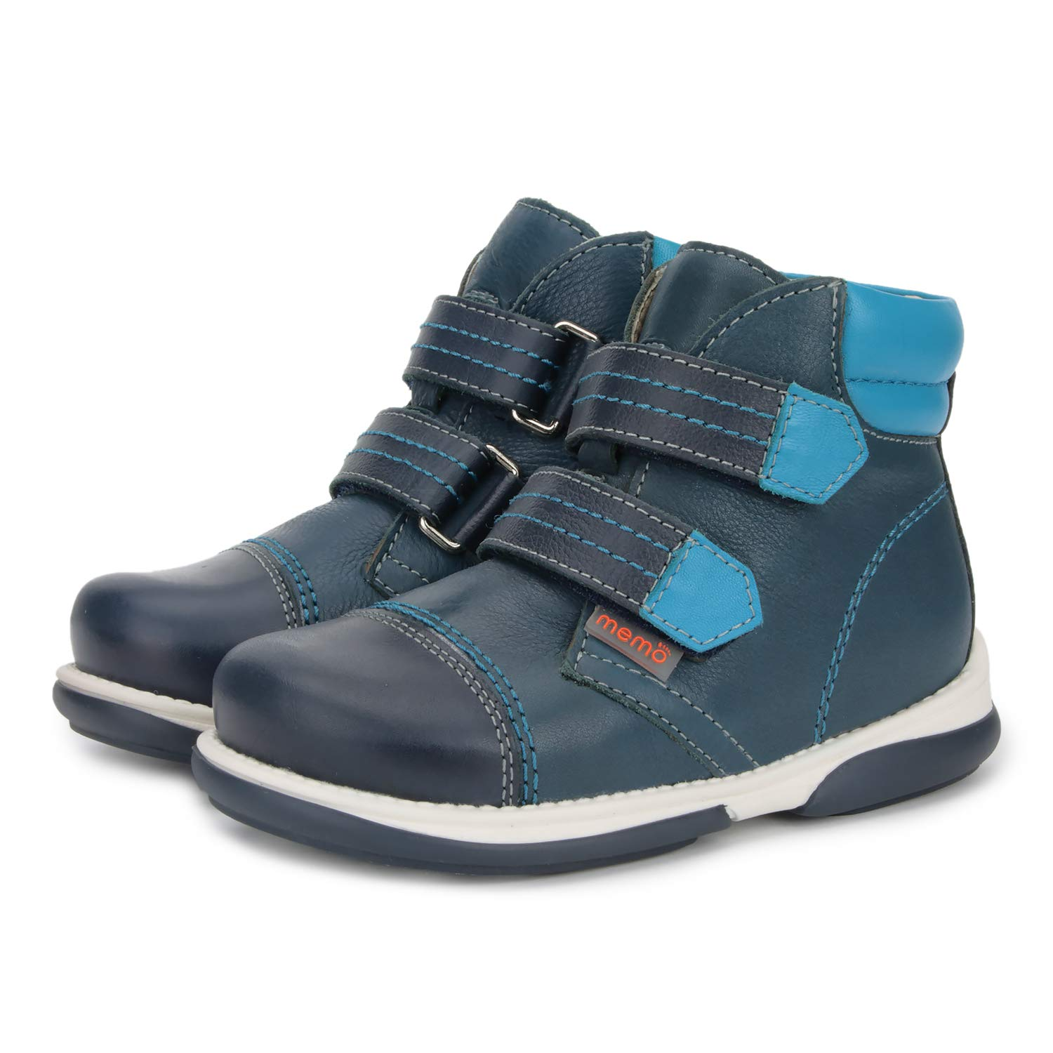 Toddler//Little Kid Memo Alex Boys Corrective Orthopedic High-Top Leather Boot Diagnostic Sole