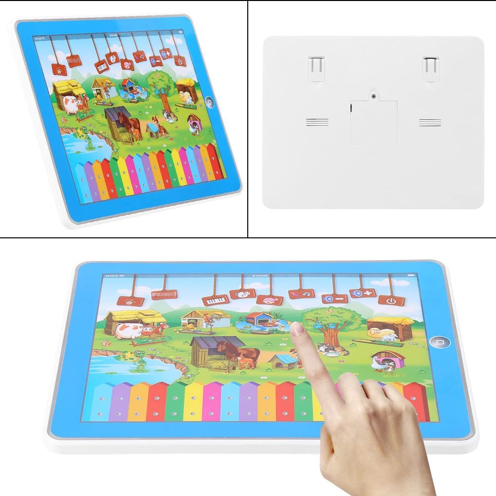 Zerodis B/éb/é Enfant Animaux de la ferme /Écran Tactile /Éducatif Piano Tablette Jouet,musical Instrument jouet clavier Piano musique /électriques developpement de musique pour B/éb/é enfant