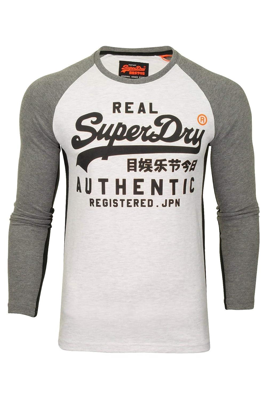 TALLA S. Superdry - Camiseta de Manga Larga con Logo Vintage