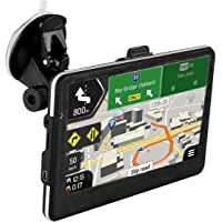 """GPS Navigator,7"""" Drive Car GPS Navigator with Lifetime-free Maps,800x480 Touch Screen GPS Navigation Stereo System with 8GB Memory for Car,Advanced Lane Guidance and Spoken Turn-By-Turn Directions"""