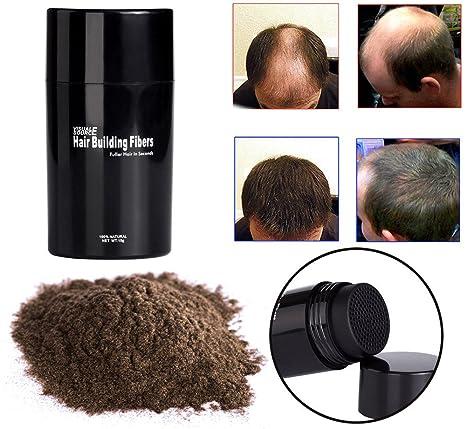 Fibras Capilares Corrector tamaño mediano, marrón, fibras con pelo Fibras para la construcción del