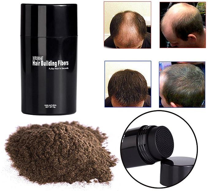 Fibras Capilares Corrector tamaño mediano, marrón, fibras con pelo Fibras para la construcción del cabello: Amazon.es: Belleza