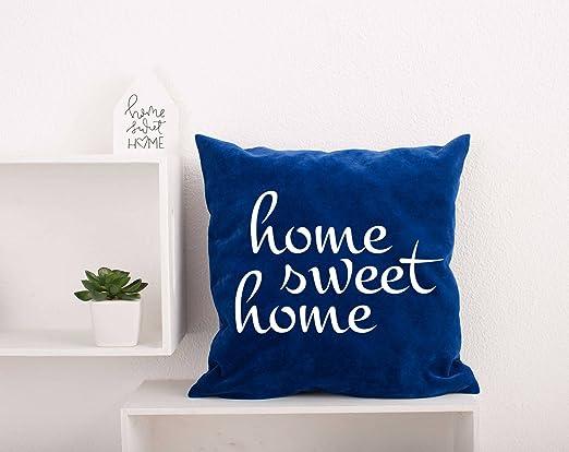 Home Sweet Home - Funda de Almohada Personalizable con Cita ...