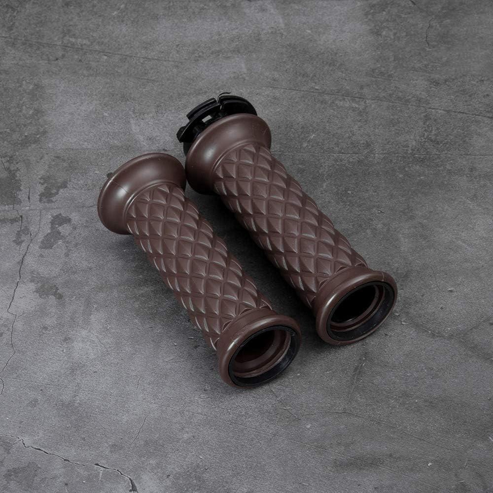 Oldbones Motorcycle Rubber Handlebar 7//8 Hand Grip Bar End for Caf/é Racer In Black