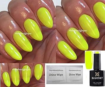 Vernis à ongles gel UV LED , Dissoluble , Par Bluesky , Couleur Neon 8 (