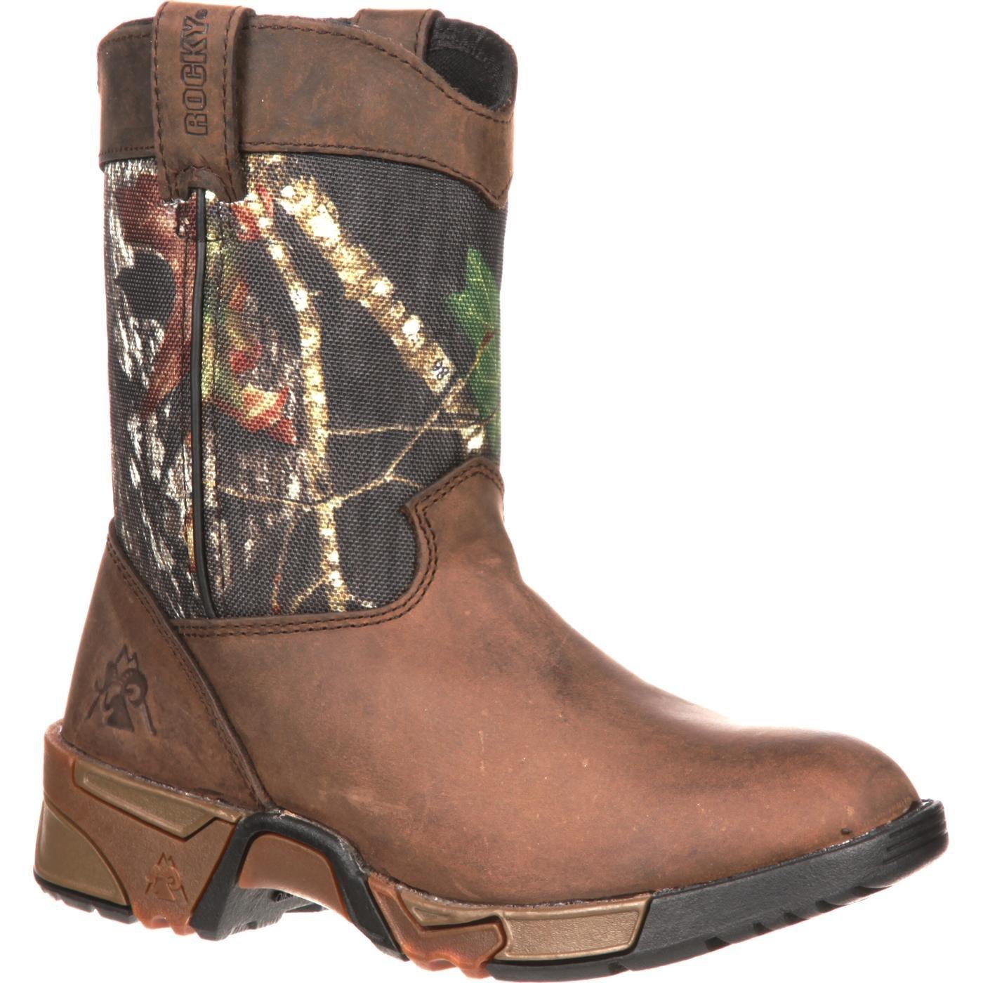 Rocky FQ0003639 Kids Aztec Wellington Boot Mossy Oak Break-Up 10.5 Regular