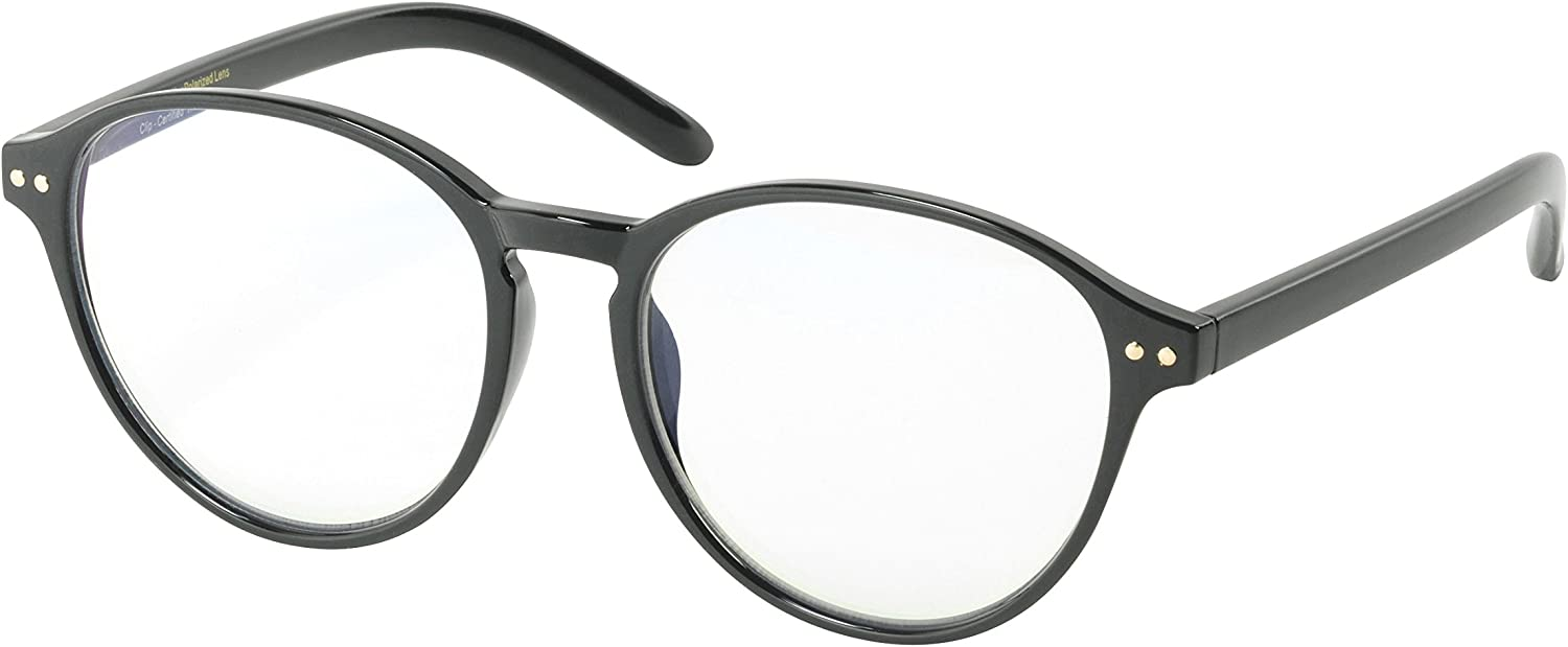 Image of Eagle Eyes Computer Glasses - with Attachable Polarized Clip-Ons Blue Light Blocking Glasses