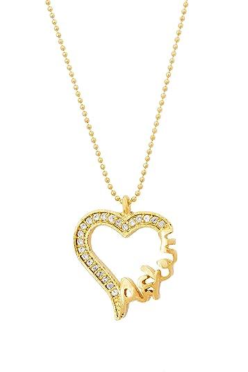 Wunderschöne türkische Halskette Kette - Herz Askim Ask - Gold Farbe ...