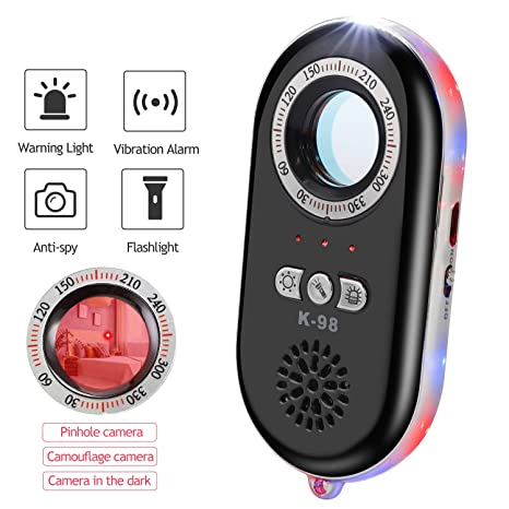 Dooreemee K98 Anti Spy Hidden Camera Detector RF Bug Detector Wireless Signal Scanner Finder with Sound and Light Alarms for Travel Home Woman Girls ...
