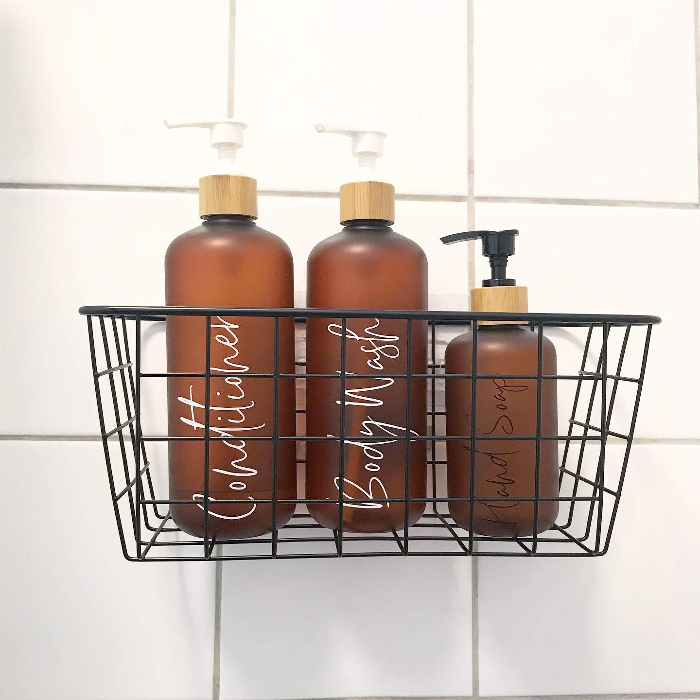 Soap Dispensers Mrs Hinch Soap Pumps Bamboo Bottles Mrs Hinch Bathroom Bottles Frosted Amber Bamboo Pump Toiletry Bottles