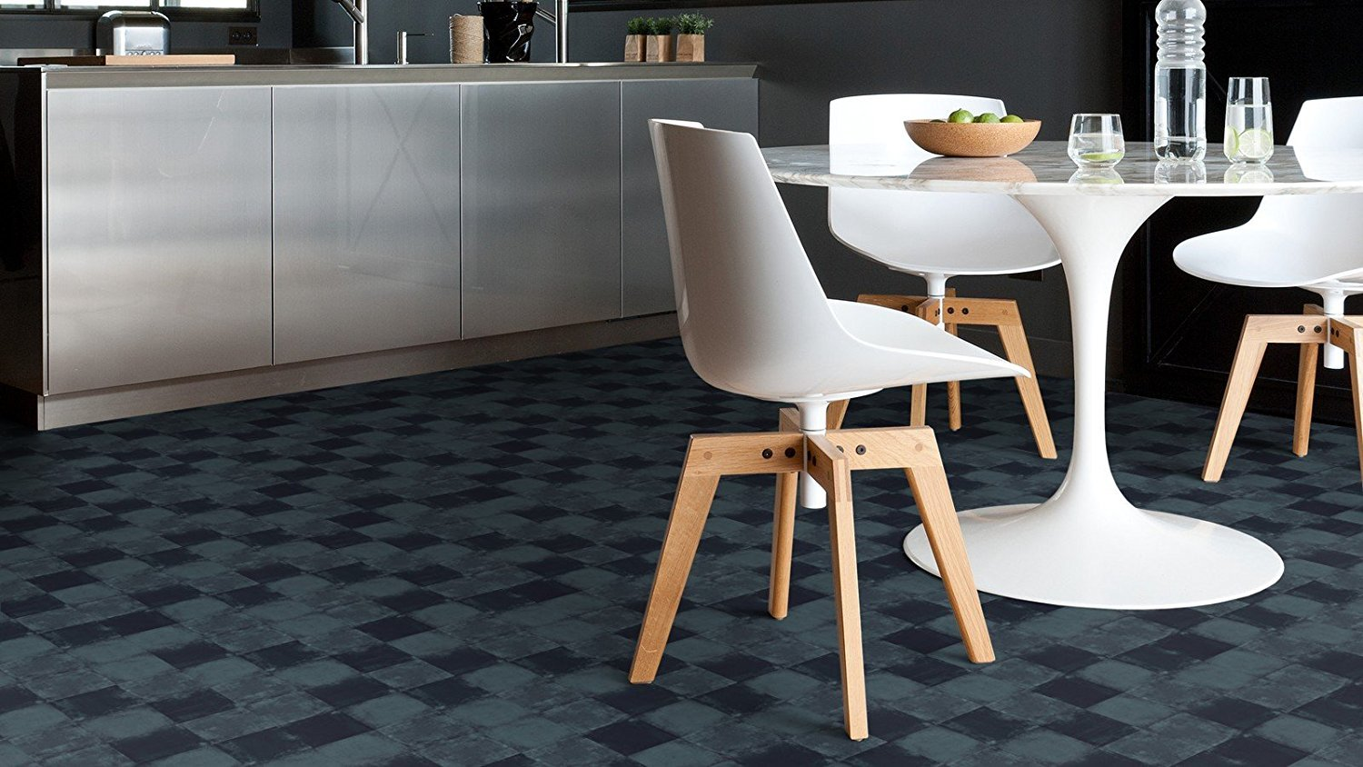 Piastrelle In Vinile Adesive : Adesivi gerflor in vinile piastrelle design square dark in