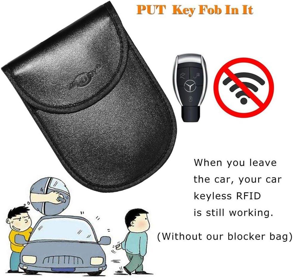Fob Guard Keyless Entry Remote Rfid Faraday Cage Shield Car Key Fob Signal Blocking Pouch Bag 2 Pack Antitheft Lock Devices Faraday Bag Rfid Key Fob Car Key Protector WIFI//GSM//LTE//NFC//RF Blocker