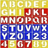 (36 pack) 26 Plantillas de Letras Alfabetos (A-Z) + 10 Plantillas de