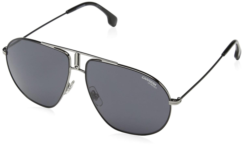 6d62a393ef9 Amazon.com  Carrera Men s Bounds Aviator Sunglasses Ruthenium Matte  Black Gray Blue