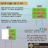 Plastic Weatherproof Yard Sign Policemen Support