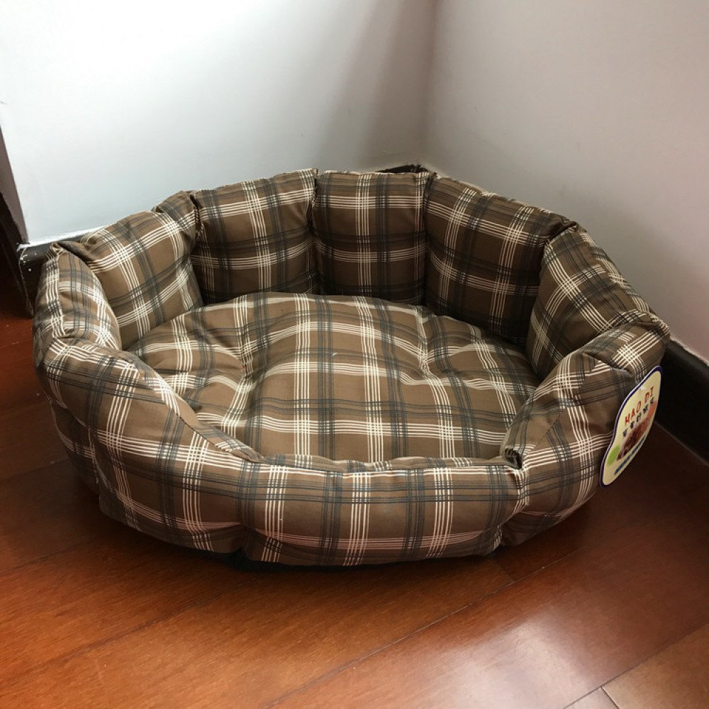 Brown 605018cm Brown 605018cm Dog House Removable and Washable Dog Mattress Four Seasons General Dog Beds,Brown-60  50  18cm