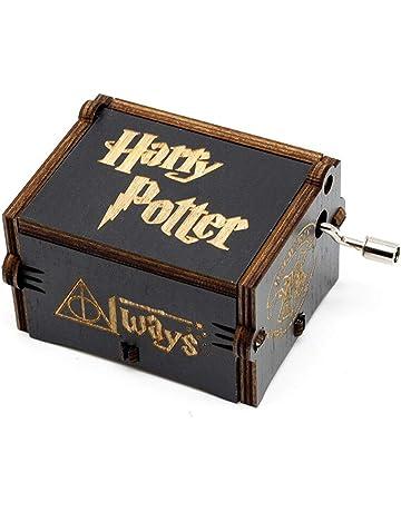 BADARENXS Puro Mano clásico Harry Potter Caja de música Caja de música de Madera a Mano