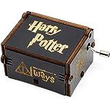 BADARENXS Premier Boîte à Musique,Harry Potter gravé en Bois Boîte décorative Cadeaux de Noël