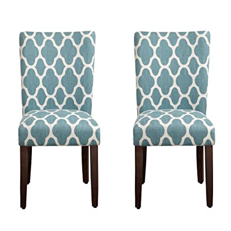 HomePop Geo Brights Parson Chairs Set of 2
