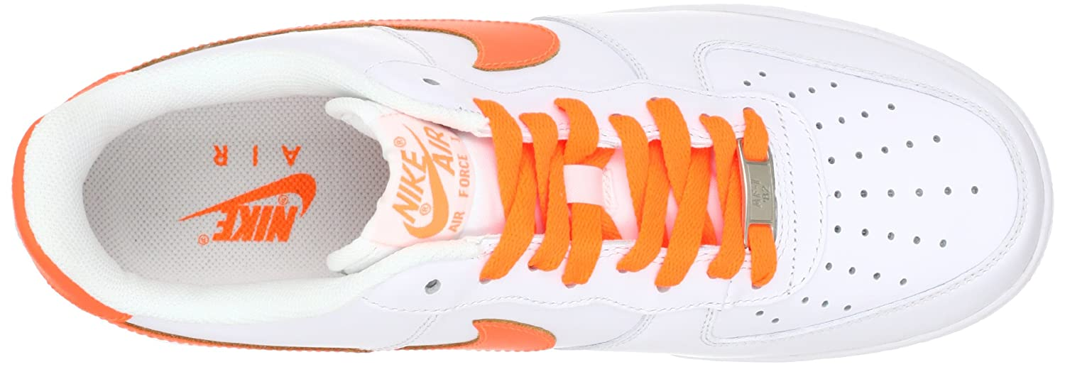 Mens Nike Air Force One Low Casual Shoes WhiteTotal Orange 488298 113