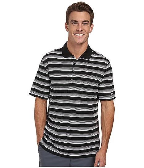 ea626fc146 Nike Golf Men's Striped Polo Short Sleeve Shirt Black/White (LARGE, BLACK)