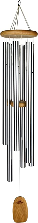 Woodstock Silver Chimes of Java Outdoor Garden Wind Chime