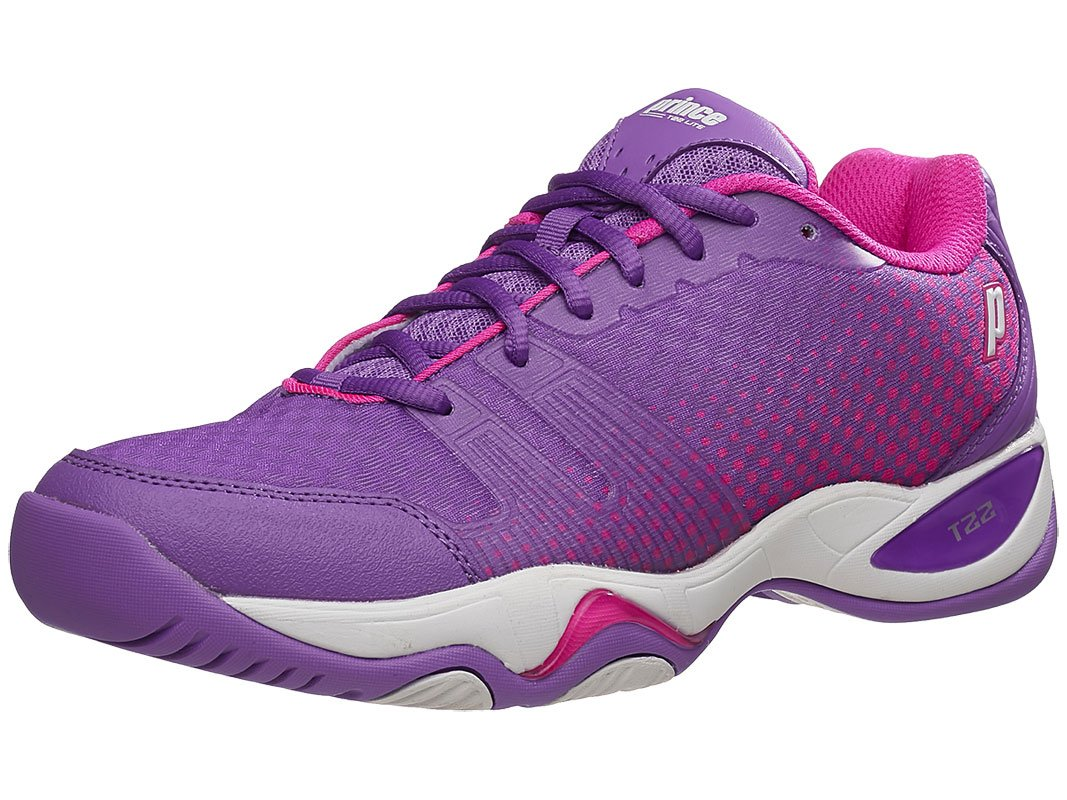 Prince Women's T22 Lite Tennis Shoes (Purple/Pink) (7.5 B(M) US)