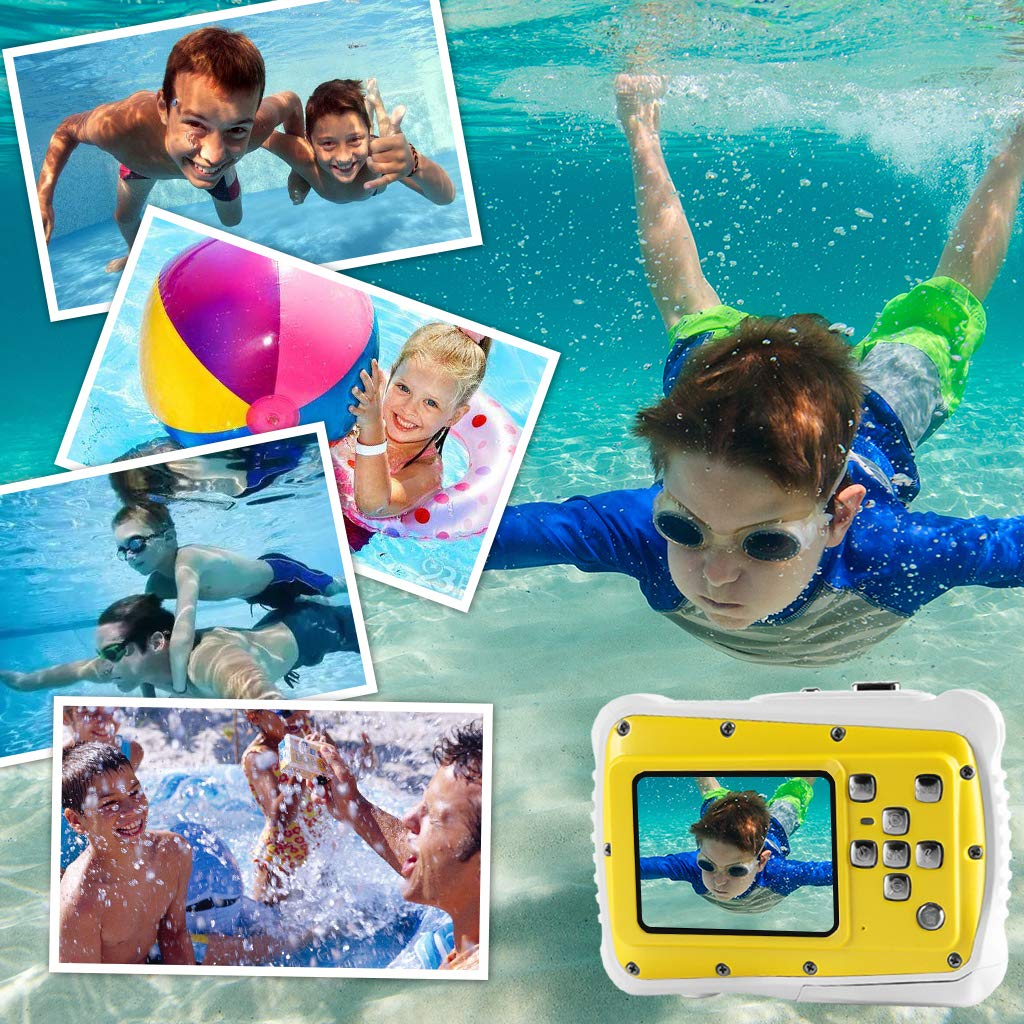 Underwater Camera for Kids, Waterproof Digital Camera Children Gift Mini Action Sport Camcorder 12MP HD/2.0 Inch LCD Display/8X Digital Zoom with 8GB SD Card & Batteries by Jamal (Image #5)