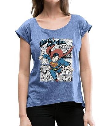 Spreadshirt DC Comics Originals Superman Bande Dessinée T-Shirt à Manches  retroussées Femme  Amazon.fr  Vêtements et accessoires 7c7091f8ff69