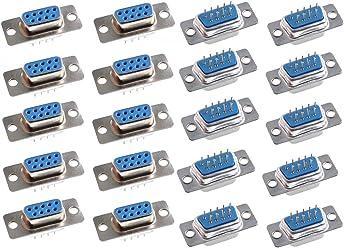 Willwin 10pack DB9 Female 2.54mm IDC Flat Ribbon Crimp Connectors FPC