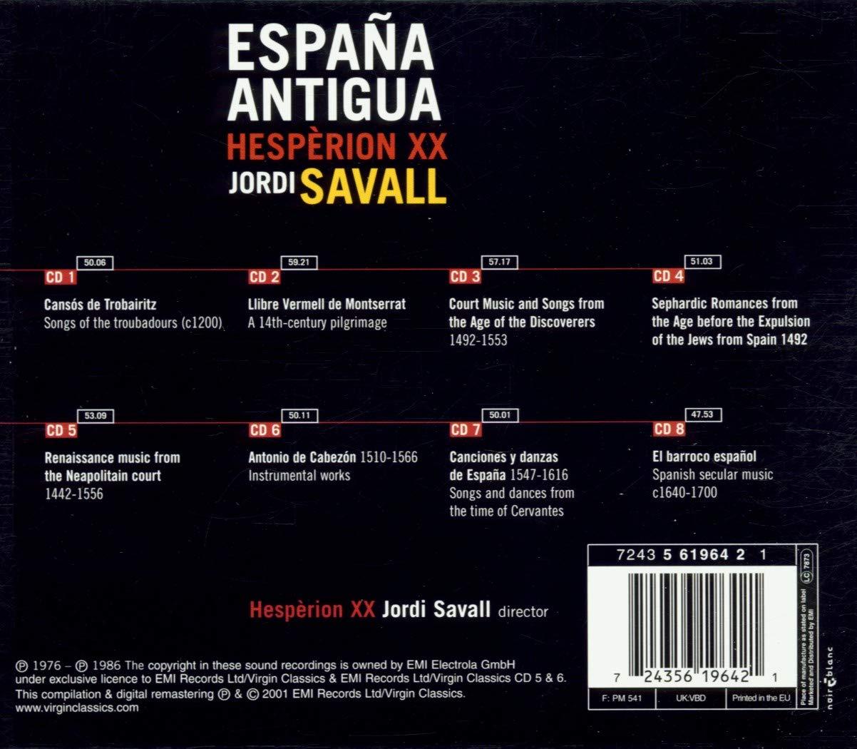 España Antigua -Hesperion Xx: Hespèrion XX, Jordi Savall: Amazon ...