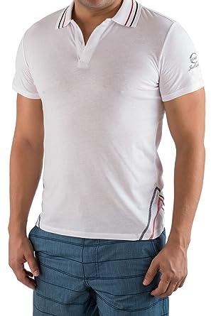 43479c31 Just Cavalli Designer Men White 100% Cotton Polo Shirt T-Shirt Tee US XS