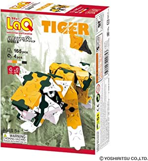 LaQ Animal World TIGER - 4 Models, 165 Pieces - Creative Construction Toy
