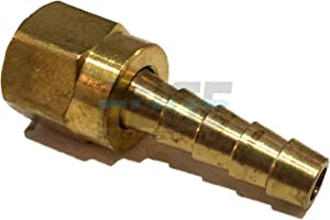 "EDGE INDUSTRIAL 1/4"" Hose ID to 1/4"" 45° SAE/37° JIC Dual SEAT Female Flare Brass Swivel Connector Fuel / AIR / Water / Oil / Gas / WOG (Qty 01)"