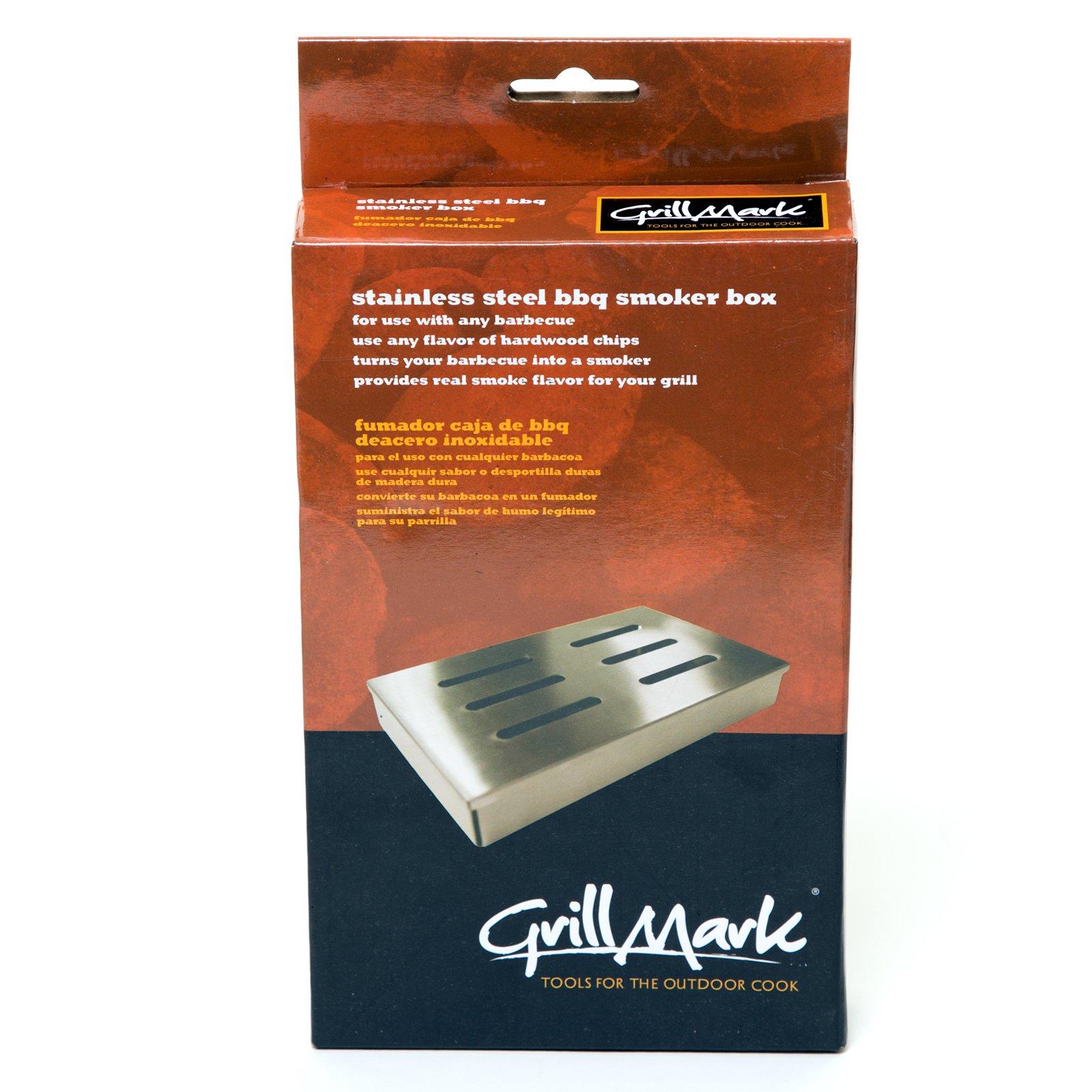 Grillmark Bbq Smoker Box 8'' X 5'' X 2'' Stainless Steel