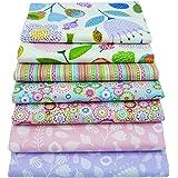 "7Pcs Floral Printed 18"" x 22"" Fat Quarters Fabric Bundles for Patchwork Quilting,Pre-Cut Quilt Squares for DIY Sewing…"