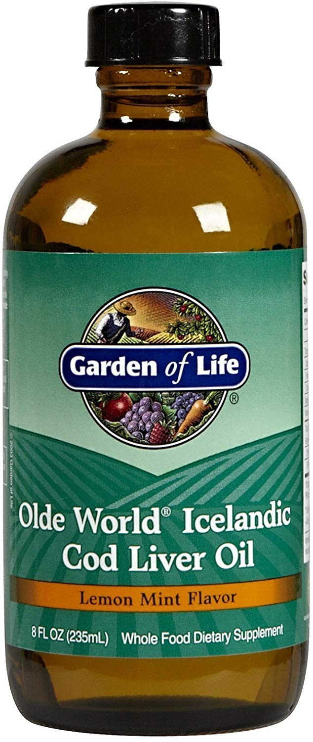 Garden of Life - Olde World Icelandic Cod Liver OilLemon mint flavour, 8 fl oz liquid