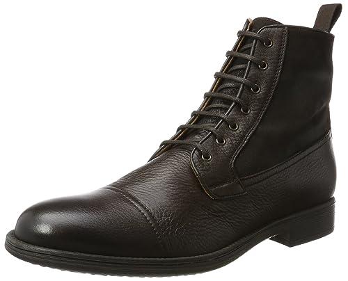 Scarpe GEOX Uomo Ankle Boots U jaylon a coffee pelle nelle mis. 42