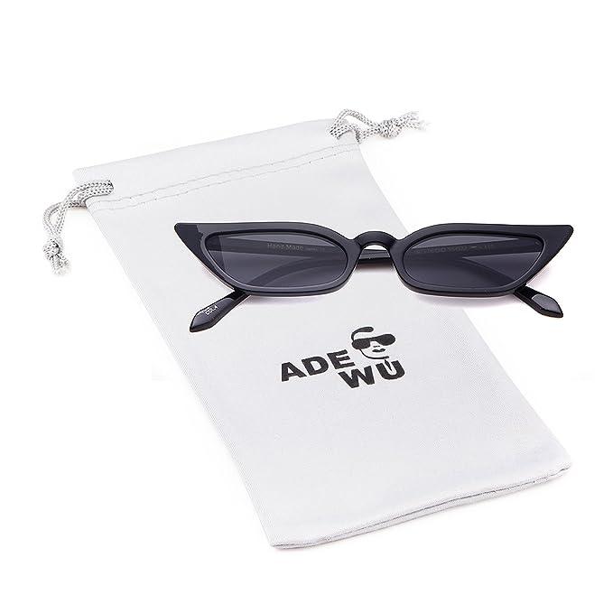 ADEWU Piccoli occhiali da sole Cat Eye retrò aCBC9Kg
