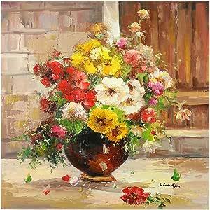 لوحة قماشية زهرية Bonamaison - أكريليك