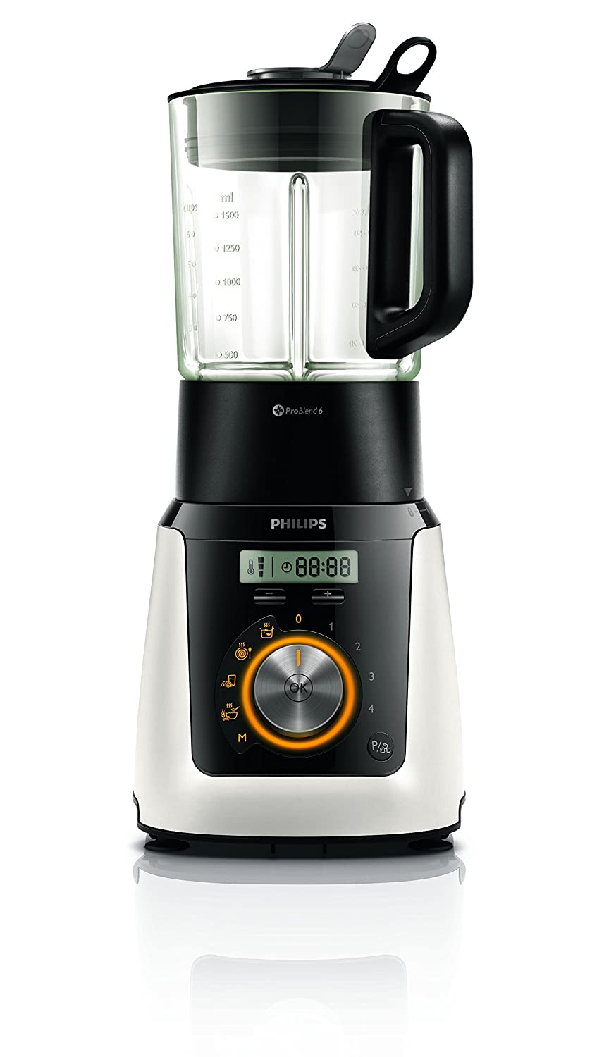 Philips Avance Collection HR2098 Tabletop blender 2L 990W Color blanco - Licuadora (Acero inoxidable, Vidrio, Acero inoxidable, Polipropileno, ...