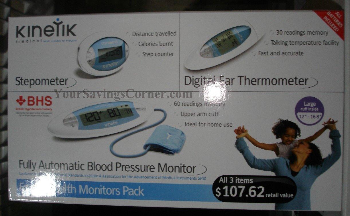 kinetik blood pressure monitor manual