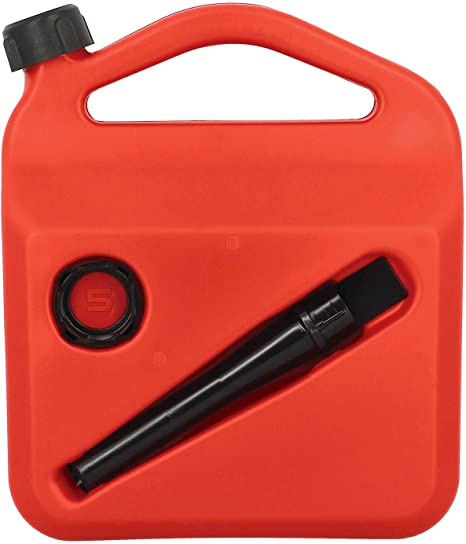 Sumex PETRO05 Bidon /à Essence ou Combustible de 5 litres homologu/é avec Tube et visi/ère de Niveau 5 l