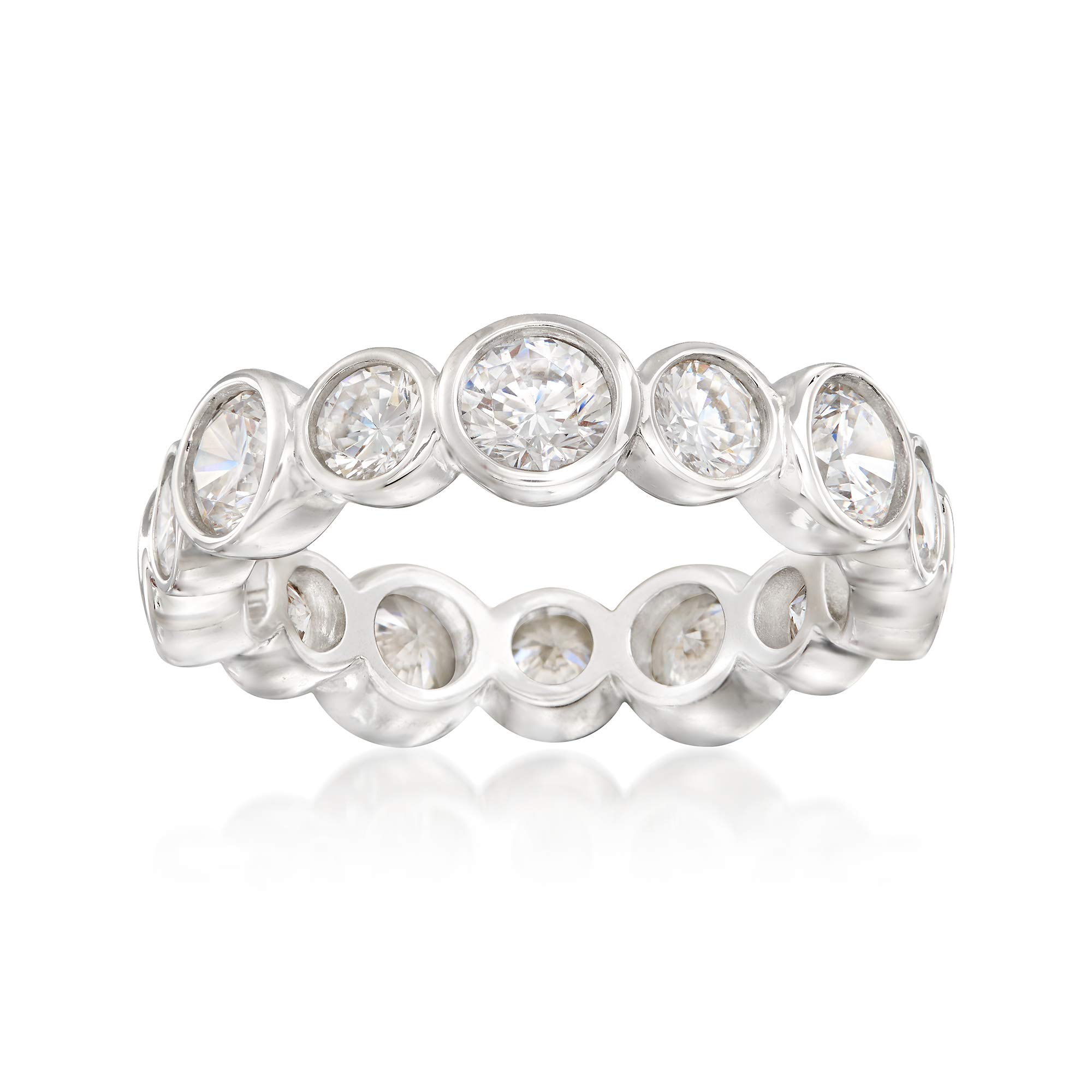 Ross-Simons 3.35 ct. t.w. CZ Eternity Band in Sterling Silver